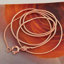 Classic vintage Rose Gold Filled Silver Snake Unisex Chain 17.7'' long Necklace