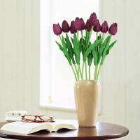 10PCS Artificial Flowers PU Tulips Bouquet Single Small Silk Wedding House Decor