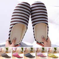 Women Men Plush Warm Slippers Unisex Anti-Slip Winter Indoor House Shoes Size