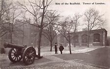 TOWER OF LONDON UK~SITE OF THE SCAFFOLD~CANNON~GALE & POLDEN PUBL POSTCARD