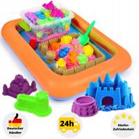 Kinetischer Sand Set 3 kg Magischer Sand Knete Zaubersand Sandkasten + Förmchen