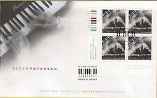 Canada 2005 - Oscar Peterson, Canadian Jazz Musician FDC