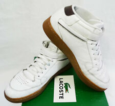 4d5c73340 Vintage Lacoste Turbo 001 White Nappa Leather Mid-Top Gum Sole Sneakers