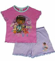 Dc Mcstuffin Shortie Pyjamas Set Girls Pjs Kids Sleepwear 18-24 Months,2-5 Years