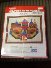 WonderArt Needlepoint Picture Kit New Sealed Medieval Town 8 x 10 Renaissance