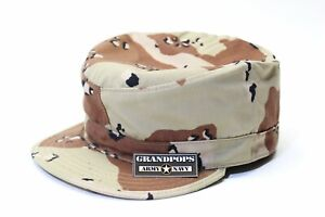 CHOCOLATE CHIP CAMO PATROL CAP WITH MAP POCKET MADE IN USA