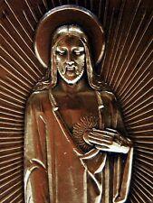 Plaque médaille sculpture Elie Jean VEZIEN JESUS ART DECO h:10,2cm 1er PRIX ROME