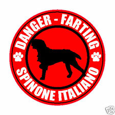 "Farting Spinone Italiano Fart 5"" Dog Sticker"