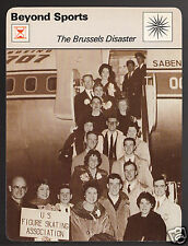 THE BRUSSELS DISASTER USA 1961 Figure Skating Team Dies 1978 SPORTSCASTER CARD