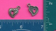 20 wholesale lead free pewter heart charms 1251