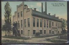 Postcard Wellsburg,West Virginia/WV  City Water Works view 1907?