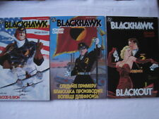 BLACKHAWK -COMPLETE SET OF 3 PRESTIGE ISSUES by HOWARD CHAYKIN.STRONG STUFF.1987