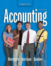 Accounting: Chapters 1-18 by Horngren, Charles T., Harrison Jr., Walter T., Bam