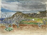 Karl Adser 1912-1995 Karge Paisaje Costero Faliraki Rhodos Isla Grecia