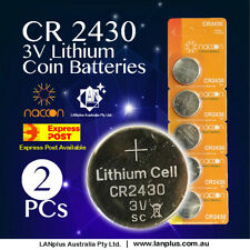 2 x CR2430 3V Lithium Battery STOCK IN Melbourne Button Coin Cell CR-2430