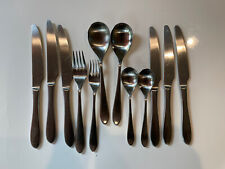 12pc Robert Welch Meridian Stainless Flatware Forks Knives Spoons