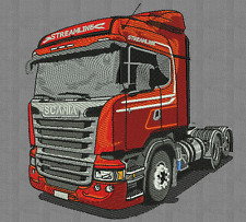 embroidery designs trailer scania patrones de máquina de bordar