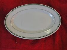 """McNicol china clarksburg west Virginia green rimmed oval 10.5"""" plate"""