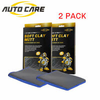 2x Auto Knethandschuh Knete Handschuh mit Reinigungsknete Mikrofaser