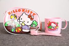 Vintage Hello Kitty Toothbrush Cup Tote Purse Set 1985 Pink Travel