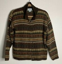 Kathy Ireland Women's Size Medium Button Down Multicolor Long Sleeve Sweater