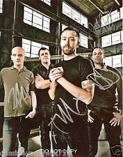 """Rise Against band Reprint Signed 8x10"""" Promo Photo RP #1 Autographed ALL 4"""