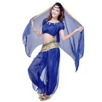 Elegant Belly Dance Costumes Suit Chiffon Short Sleeve Tops & Bloomers Pants set