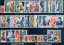 FRANCE ANNEE COMPLETE 1954 OBLITEREE COTE 260€