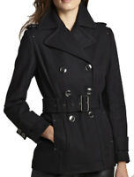 New KENNETH COLE NEW YORK Women's Wool Peacoat Trench Coat, NWT【size 10】【$350】