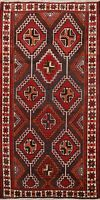 Vintage Traditional Hand-Knotted Wool Area Rug Oriental Geometric Carpet 5x8 ft