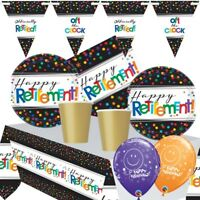 Officially Retired | Retirement Themed Party Range, Balloons, Decorations, Games