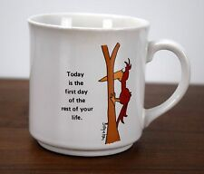 Sandra Boynton Coffee Mug First Day of Rest of Life Woodpecker Bird Cup Japan