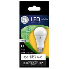 Ge Lighting 24095 Medium Base A21 3-Way Led Bulb, Soft White, 2700K, 4/7/13W