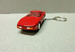 RED 1988 CHEVY CORVETTE  KEY CHAIN 1:64 SCALE