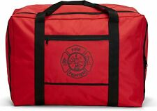 LINE2design Firefighter Turnout Gear Bag with Water Resistant Outer Fabric - Red