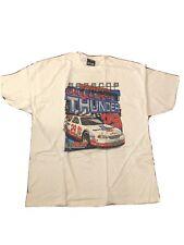 Vintage Mens Kevin Harvick T Shirt Release The Thunder Nascar Mens Size XL New