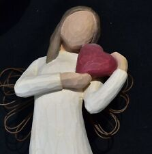 """Ceramic """"Angel of the Heart"""" with wings"""