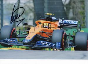 Lando Norris hand signed photo. Mclaren 2021 Imola GP .