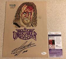 The Undertaker Original Art By Tony Keaton Signed Autograph Auto WWF WWE JSA