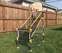 Arcade Basketball Hoop with Ball and Pump Family Game Room Indoor Outdoor