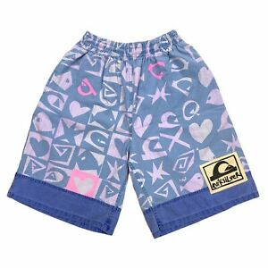 Quiksilver All Over Print Funky Shorts   Vintage 90s Retro Street Surf Style VTG