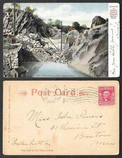 1907 Massachusetts Postcard - Quincy - Quarries of Granite Railway Company