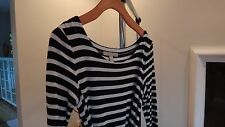 Banana Republic Dress, Black and White Stripes, Petite XS