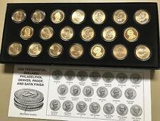 2008 Presidential Dollars Philadelphia Denver Proof Set of Twenty Coins
