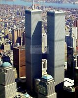 AERIAL VIEW OF WORLD TRADE CENTER IN MARCH, 2001 - 8X10 PHOTO (FB-369)