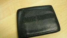 Harley-Davidson Mens Logo Bi-Fold Wallet, Black 4X3 LEATHER