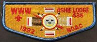 MERGED ASHIE OA LODGE 436 532 45 BSA SAN DIEGO COUNTY COUNCIL CA 1992 NOAC FLAP