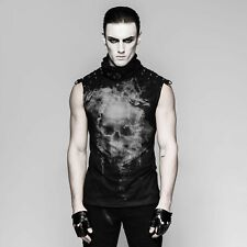 Punk Rave Heren Mouwloos Shirt Ghost Top Gothic Punk Post-Apocalyptic T-470