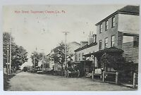 RPPC Sugartown PA Chester County Main St 1908 to Muddy Creek Forks