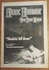 ALEX HARVEY SHAKIN' All Over 1979 edición anuncio completo Páginas 28 x 39cm